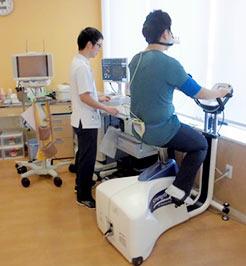心肺運動負荷検査(CPX)の様子